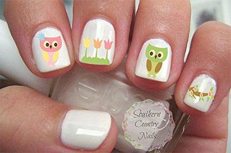 Cute Spring Nail Art Stickers 2017 4