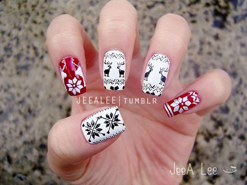 18 Easy Cute Christmas Nail Art Designs Ideas