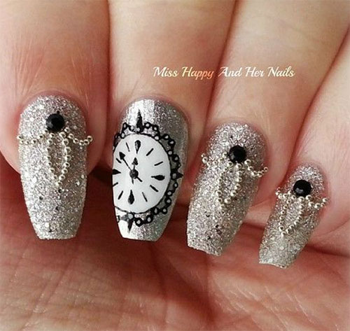 15 Inspiring Happy New Year Eve Nail Art