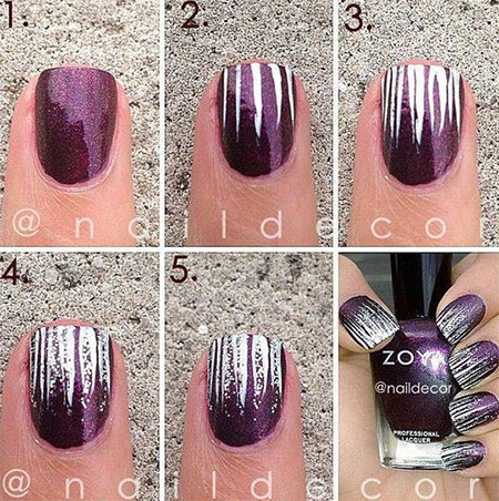 10 Easy Simple Winter Nails Art Tutorials For