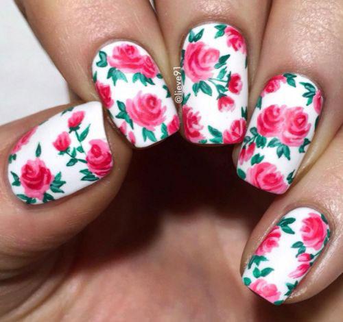 View Images Fl Nail Art Designs Ideas Spring Nails Modern