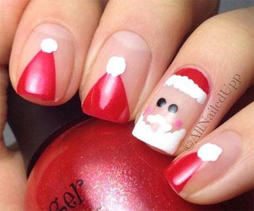18 Christmas Santa Nail Art Designs Ideas 2017