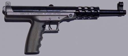 Goncz GA-9 pistol less magazine, right side view