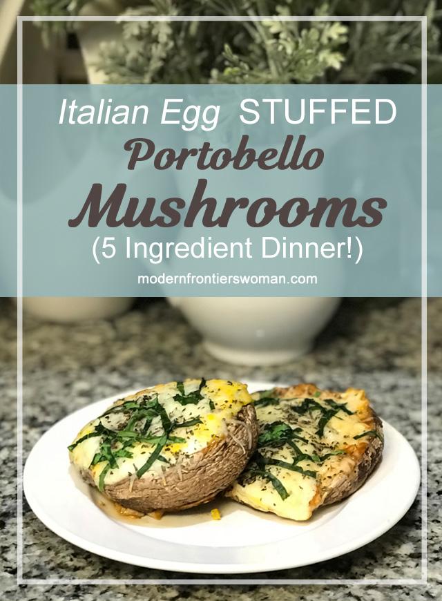 Italian Egg Stuffed Portobello Mushrooms