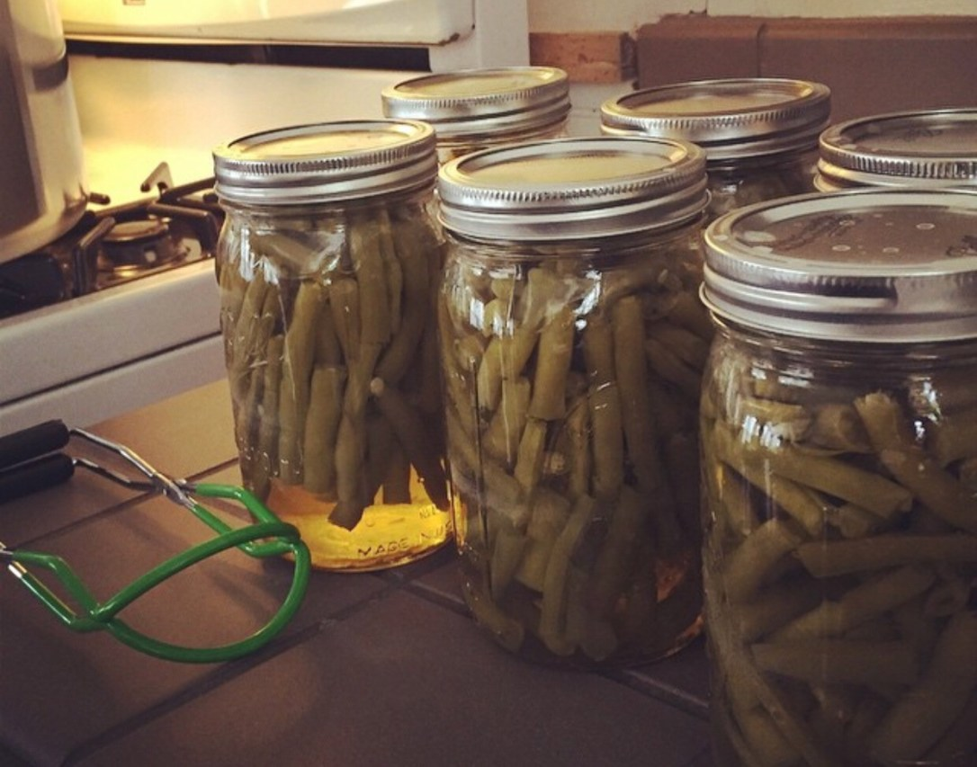 Pressure canning green beans mason jars