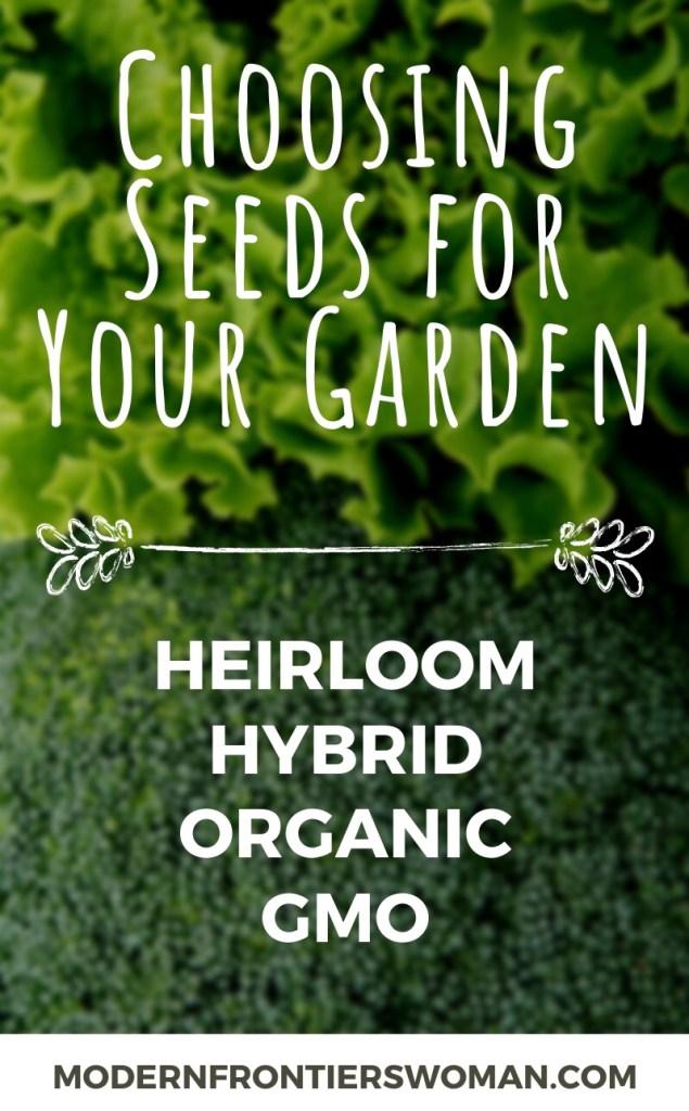 Choosing seeds for your garden