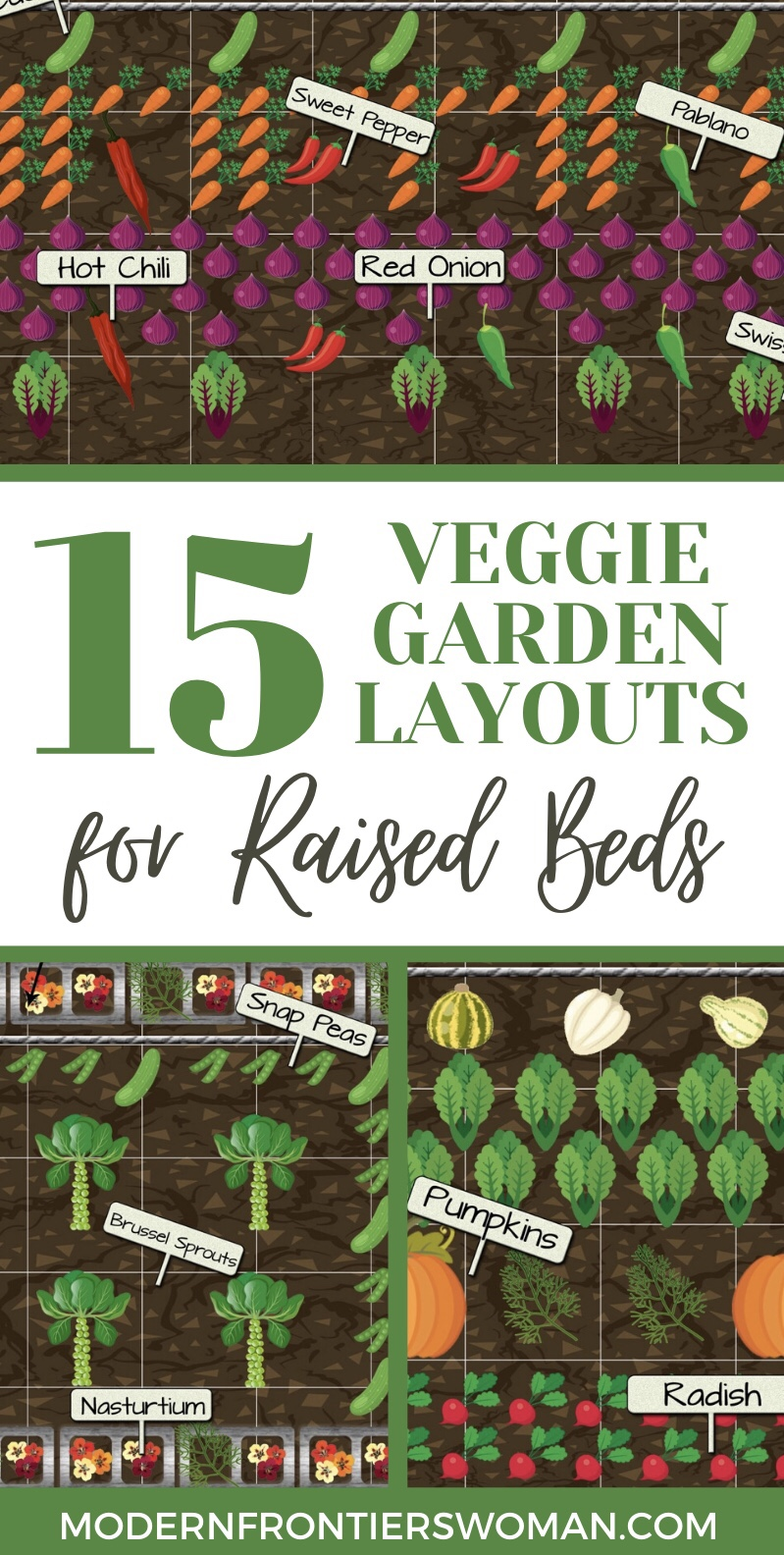 15 Veggie Garden Layouts got Raised Beds
