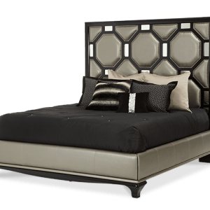 After Eight Cal King Upholstered Bed-onyx