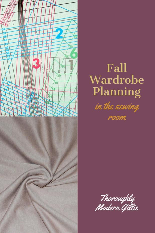 Fall Wardrobe Planning,www.moderngillie.com #fallwardrobe, #fashion, #sewing