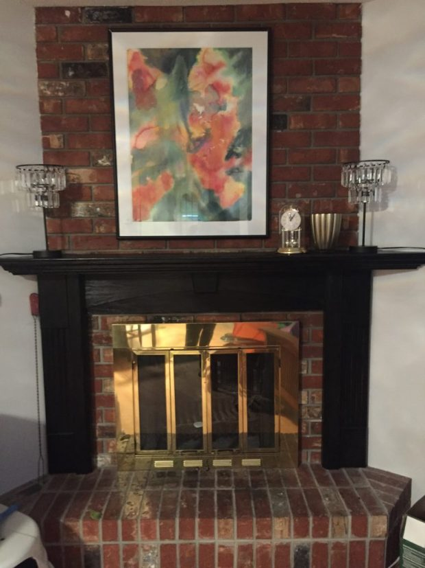 Eat Fireplace Mantle Upgrade, www.moderngillie.com