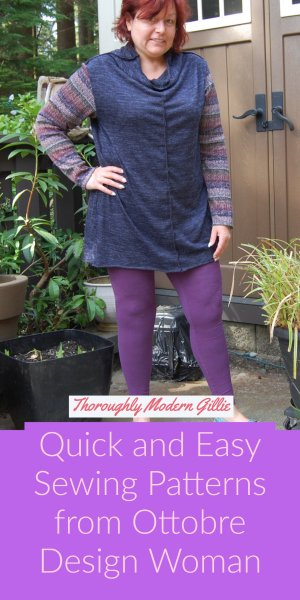 Quick and Easy Sewing Patterns from Ottobre Woman. www.moderngillie.com