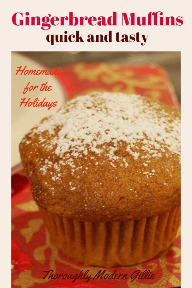 Quick tasty gingerbread muffins, www.moderngillie.com #gingerbread #muffins #baking #christmas #christmasbaking #holidaybaking