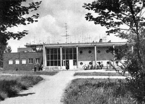 A fürdő bejárata. (forrás: Régi Győr)