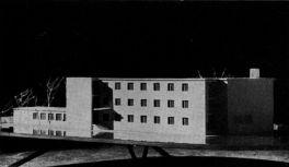 Makett 1958-ból. (forrás: Magyar Építőművészet)
