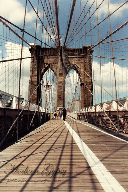 Travel Postcard Brooklyn Bridge, New York