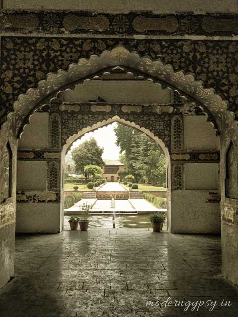 Arches in gardens Mughal architecture in Kashmir