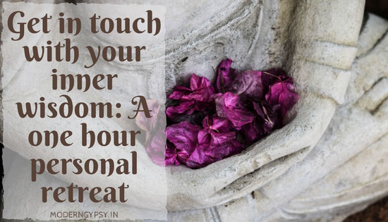 A one hour personal at home retreat to tap into your current knowing and inner wisdom