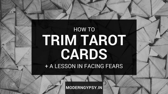 how to trim tarot or cards