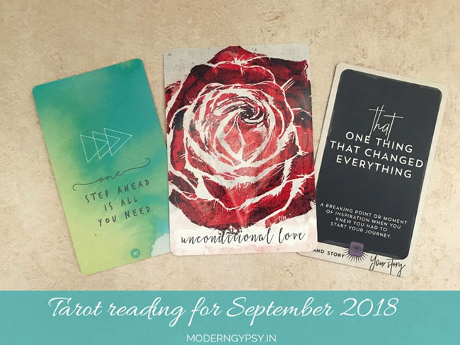 Tarot reading for September 2018