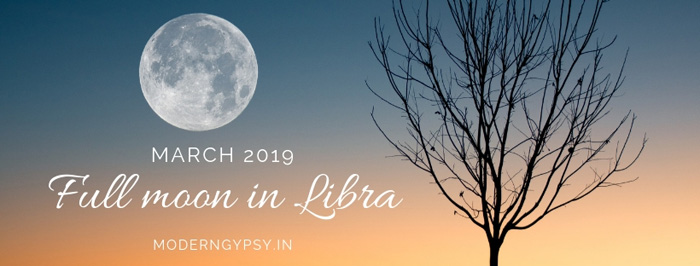March 2019 full moon in Libra astrology and tarot spread