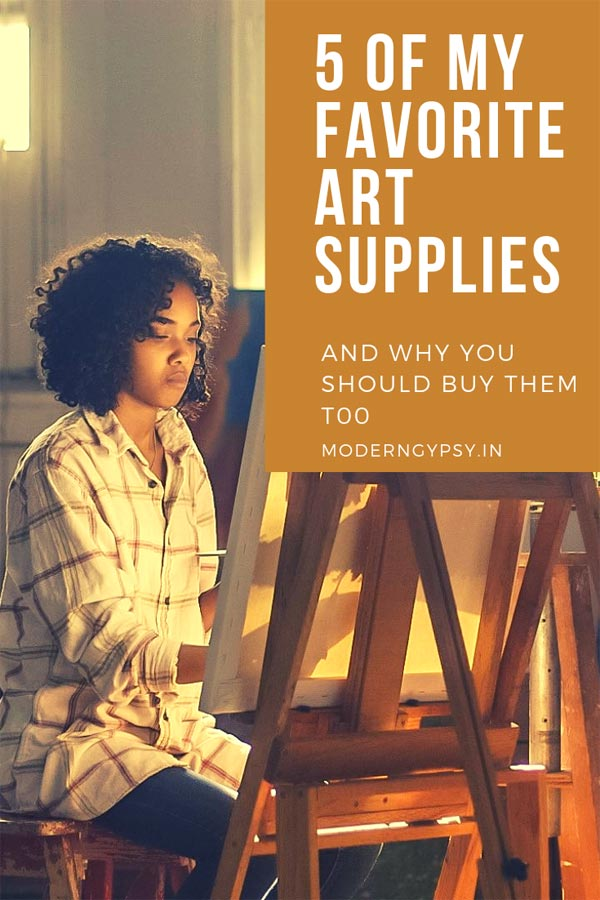 Sharing 5 of my favorite art supplies with honest reviews of why I love them, and why I think these art supplies would make a great addition to any artist's toolkit!