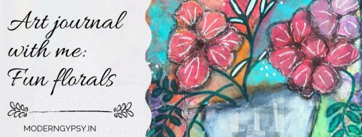 How to paint mixed media florals in an art journal
