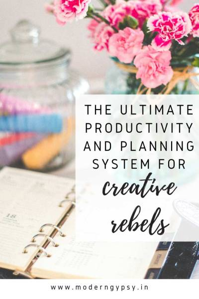 The ultimate productivity and planning system to organize your life and goals for creative rebels.