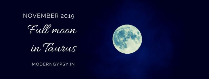Tarot spread for the November 2019 full moon in Taurus
