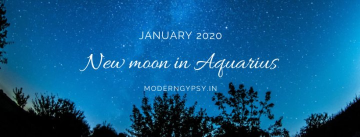 Tarot spread for the January 2020 new moon in Aquarius
