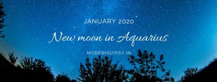 Tarot spread for the January 2020 new moon in Aquarius