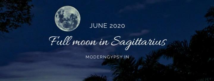 Tarot spread for the June 2020 full moon in Sagittarius