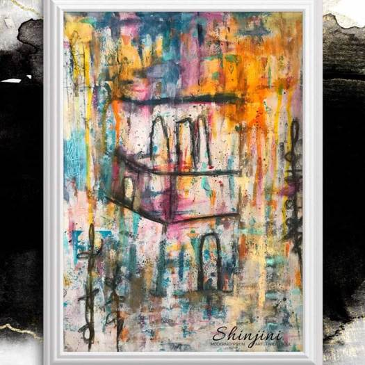 Abstract painting - The Mazaar