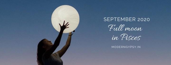 Tarot spread for the September 2020 full moon in Pisces