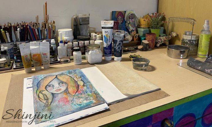 small home art studio organization