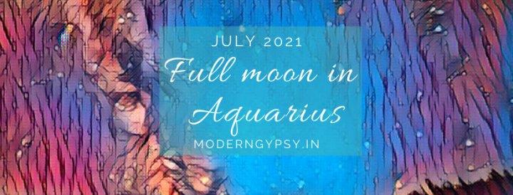 Tarot spread for the July 2021 full moon in Aquarius