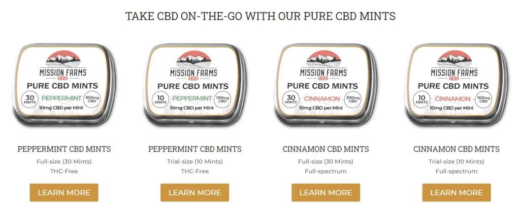 Mission Farms CBD review CBD Mints