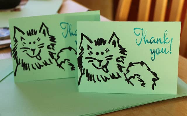 DIY Thank You Note