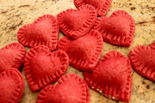 Meatless Monday: Valentine Ravioli with Goat Cheese and Walnut Filling