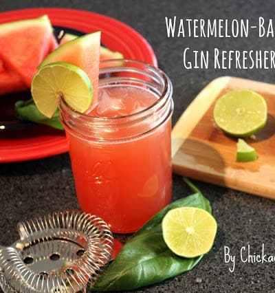 Watermelon-Basil Gin Refresher