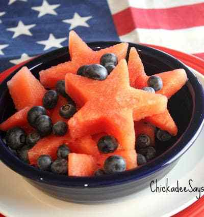 Watermelon and Blueberries