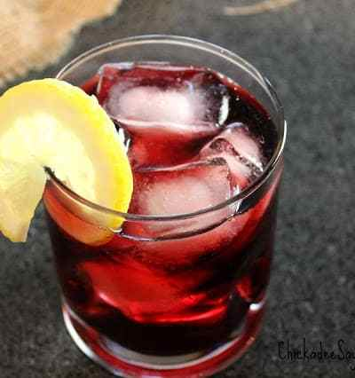Blackberry Orange Gin and Tonic