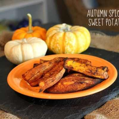 Autumn Spice Baked Sweet Potato Fries