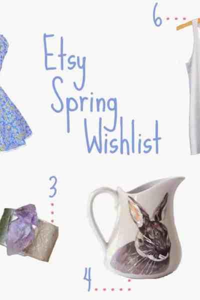 Spring Etsy Wishlist