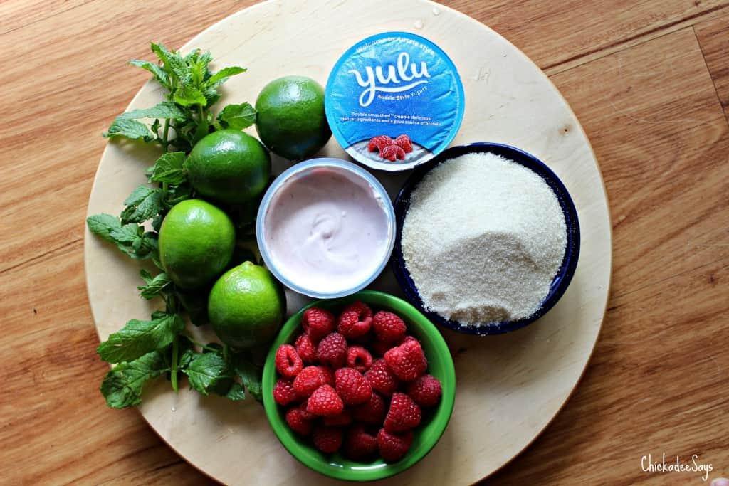 Raspberry Mint Frozen Yogurt Ingredients