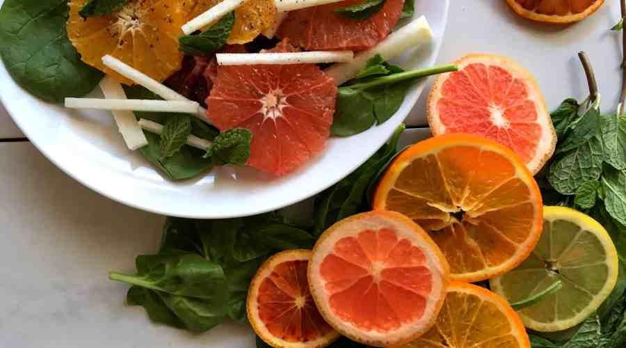 Citrus Jicama Mint Salad