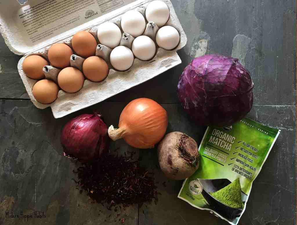 DIY All Natural Easter Egg Dyes Ingredients