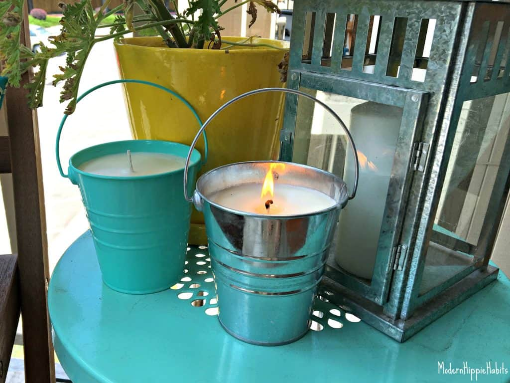 DIY All Natural Bug Repellent Candles