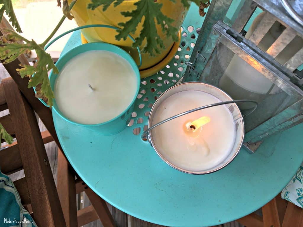 DIY All Natural Bug Repellent Candles