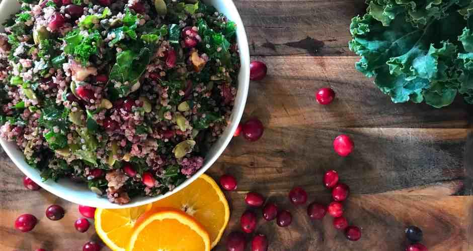 Kale Quinoa Salad with Winter Fruit