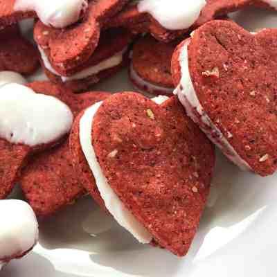 Valentine's Day Dog Treat Sandwiches